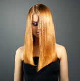 Girl with straight hair Stock Image