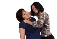 Girl strangling a woman Royalty Free Stock Image