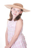 Girl in straw hat Stock Photo