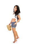 Girl with straw hat. Stock Image