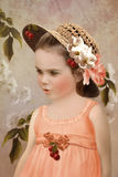 Girl in straw hat Royalty Free Stock Images
