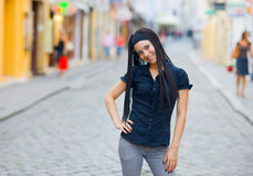 Girl in the street Stock Photos
