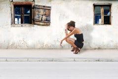 Girl on street Royalty Free Stock Image