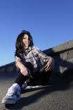 Girl on street Stock Photos