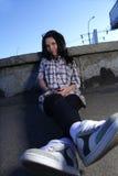 Girl on street Stock Photo