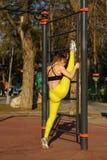 Girl on street workout Royalty Free Stock Photo