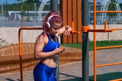 Girl on street workout Royalty Free Stock Photography
