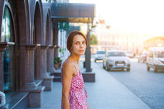 The girl on the street. Stock Photo