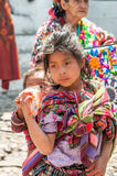 Girl in The Streets of Chichicastenango Stock Image