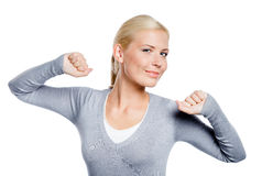 Girl stretches herself Stock Image