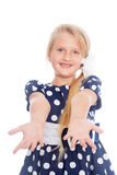Girl stretches out his arms. Stock Image