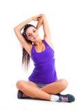 Girl stretching Stock Image