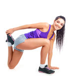 Girl stretching Royalty Free Stock Photography