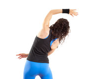 Girl stretching before fitness exercise Royalty Free Stock Photos