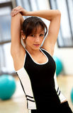 Girl stretching out Stock Images