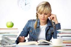 Girl student Stock Images
