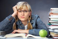 Girl student Royalty Free Stock Photo