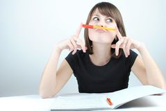 Girl student Stock Image
