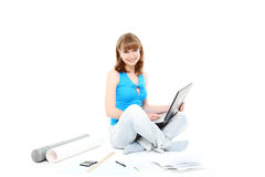 Girl-student Stock Image