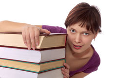 Girl student with the book Stock Image