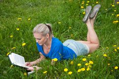 A girl student with a book Royalty Free Stock Image