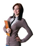 Girl student with a book Royalty Free Stock Images
