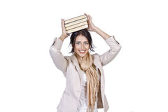 Girl student with books Stock Photography