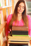 Girl student in college library Stock Image