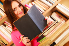 Girl student in college library Royalty Free Stock Photography
