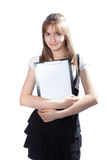 Girl the student with documents Stock Images