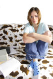 Girl student learning Royalty Free Stock Images