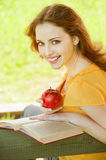 Girl-student read the book Royalty Free Stock Photography