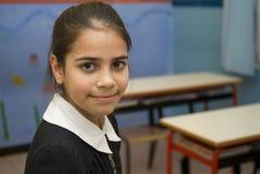 Girl student in school uniform Stock Photos