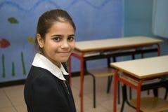 Girl student in school uniform Stock Photo