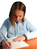 Girl student study Stock Images