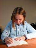 Girl student study Royalty Free Stock Photos
