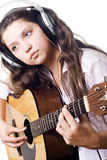 Girl in studio stock image