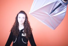 Girl in studio Royalty Free Stock Images