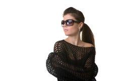 Girl in studio Royalty Free Stock Photo