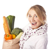 The girl in the studio. Healthy meal. Stock Photography