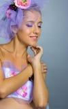 Girl in studio shot Stock Photography