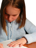 Girl study child Stock Photography