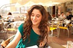 Girl studying Royalty Free Stock Photos