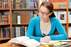 Girl studying Stock Photos