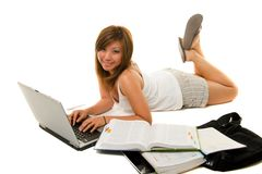 Girl Studying Royalty Free Stock Images