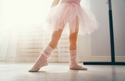Girl is studying ballet stock image