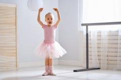 Girl is studying ballet stock photo