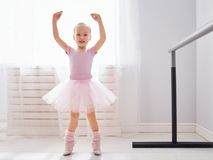Girl is studying ballet stock photo