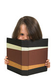 Girl studying with blank book Royalty Free Stock Image