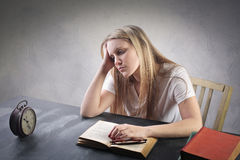Girl studying Royalty Free Stock Photography